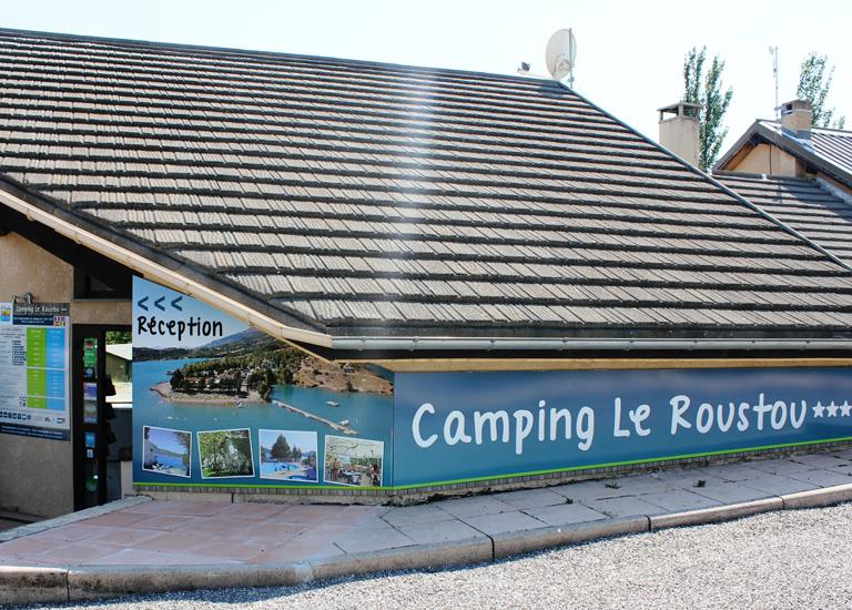 Reception of the Camping Le Roustou