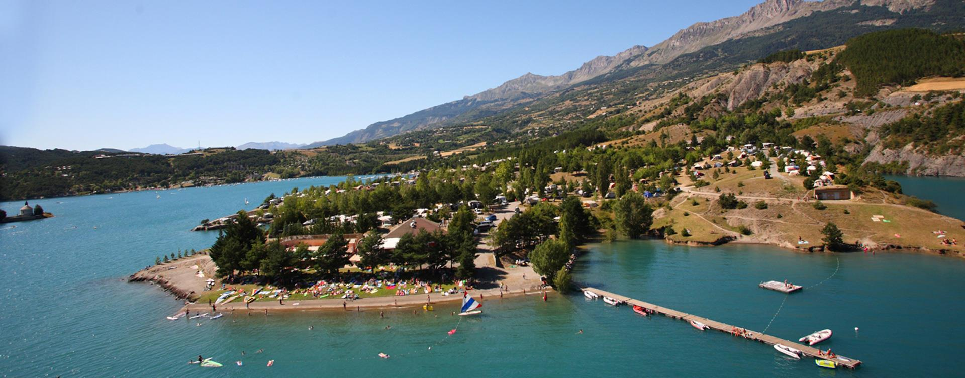 Aerial view of the Serre-Ponçon Lake