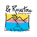 Camping le Roustou's logo in the Hautes-Alpes